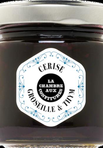 Confit Cerise , Groseille & Thym | La Chambre aux Confitures | 100g