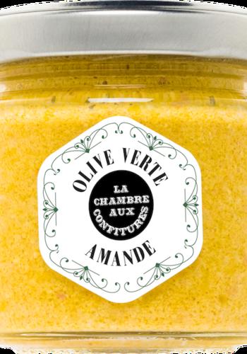 Tartinade  d'olive verte & Amande | La Chambre aux Confitures | 100g
