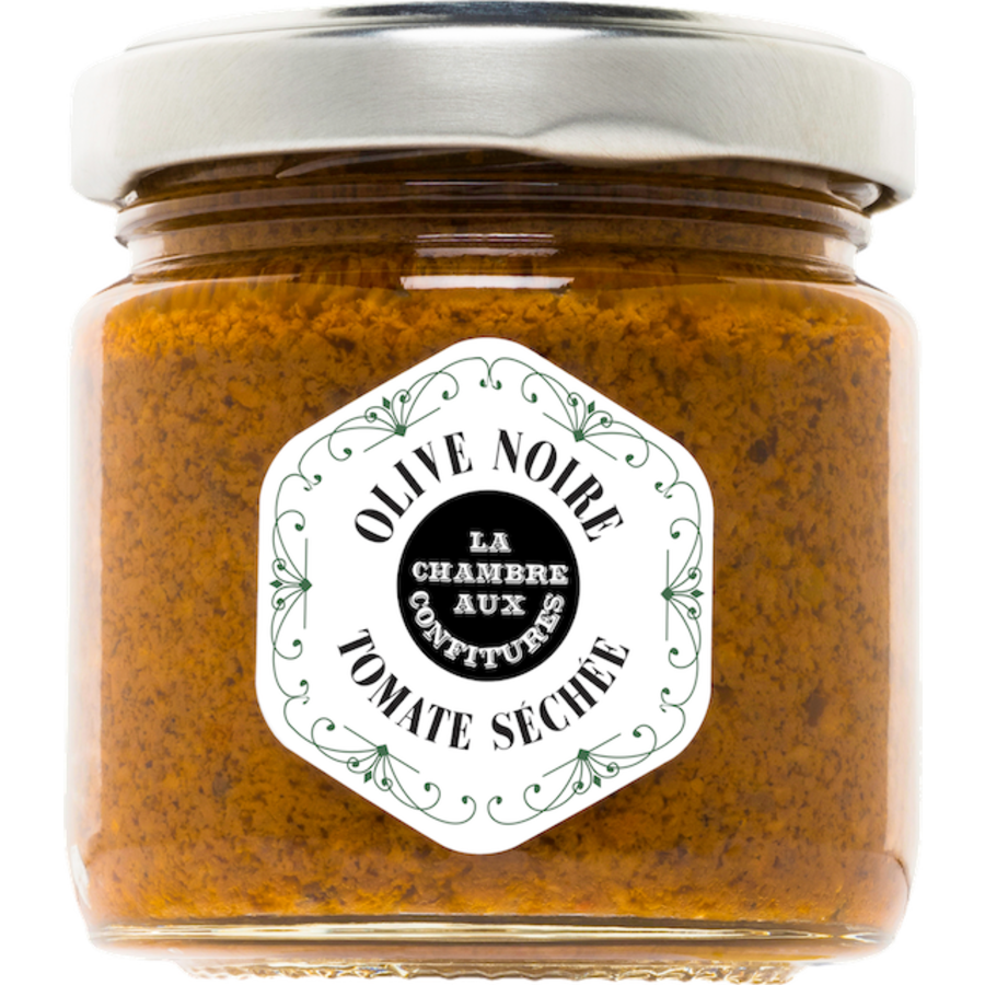 Tartinade d'olive noire & Tomate séchée | La Chambre aux Confitures | 100g