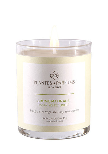 Bougie végétale parfumée  |Brume Matinale|Plantes & Parfums Provence | 180g