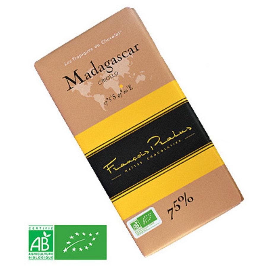 Barre de chocolat noir 75% | Criollo |FRANÇOIS PRALUS | 100g