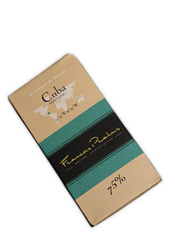 Barre de chocolat noir 75% | Cuba - Trinitario | François Pralus | 100g