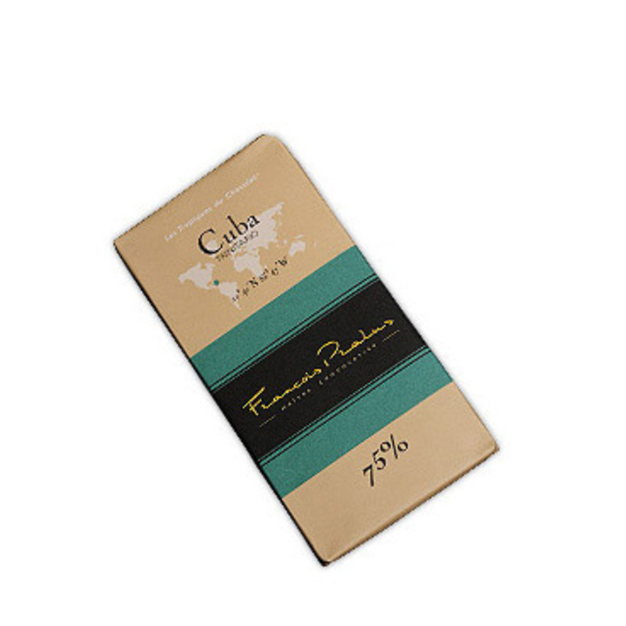 Barre de chocolat noir 75% | Cuba |Trinitario |FRANÇOIS PRALUS | 100g