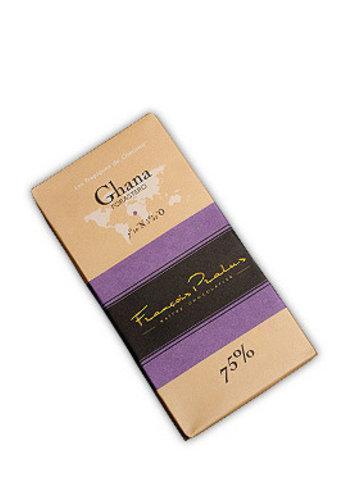 Barre de chocolat noir 75% | Ghana - Firastero | François Pralus | 100g