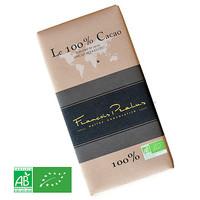 Barre de chocolat noir 100% | Le 100% Cacao - Sans sucre ajouté  - Trinitario | François Pralus | 100g
