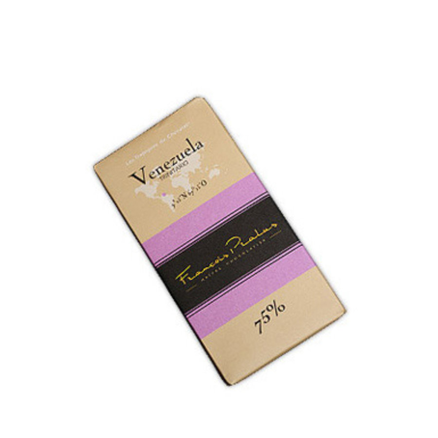 Barre de chocolat noir 75% | Vénezuela |Trinitario |FRANÇOIS PRALUS | 100g
