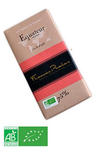 Barre de chocolat noir 75% | Équateur - Arriba | François Pralus | 100g