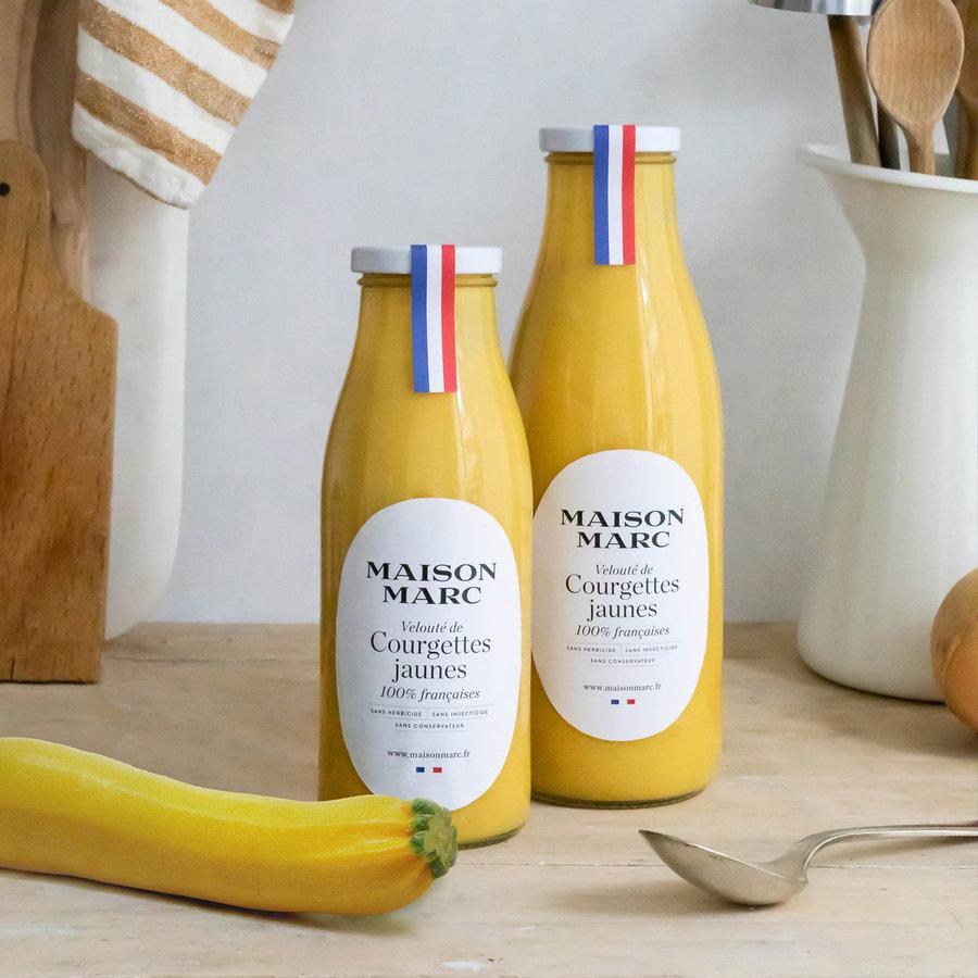 Velouté de courgettes jaunes | 100% français | Maison Marc | 750ml