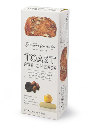 Toast Coing, Pacanes et Pavot   The Fine Cheese Co.   100g