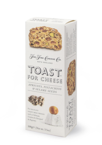 Toast Abricot, Pistaches et Graines de tournesol   The Fine Cheese Co.   100g
