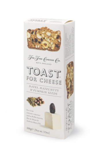 Toast dates, noisettes et graines de citrouille |  The Fine Cheese Co. ||100g