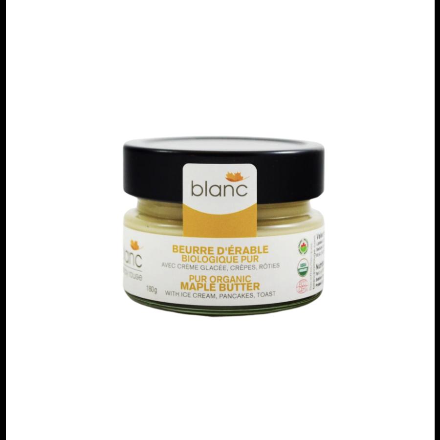 Beurre d'érable biologique  | Blanc par Rouge | 180g