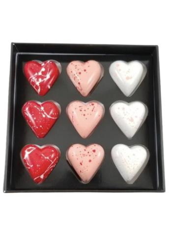 Coffret coeurs 9 morceaux | Morel Chocolatier