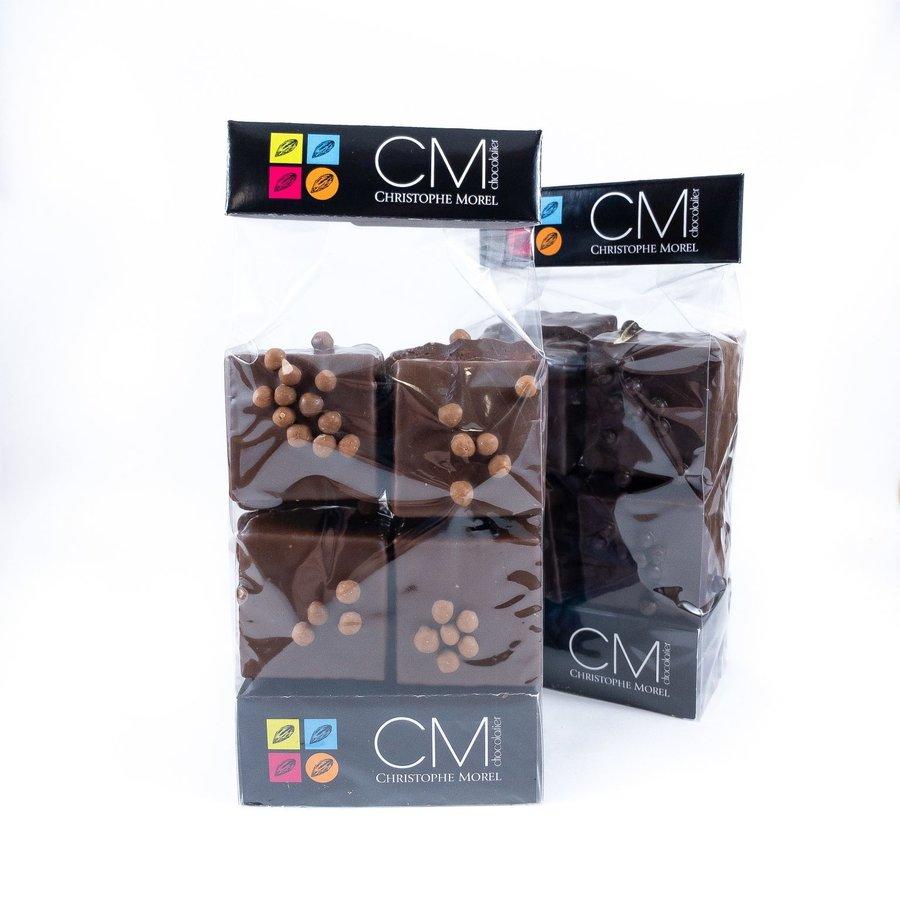 Cube de guimauve noir / Morel Chocolatier