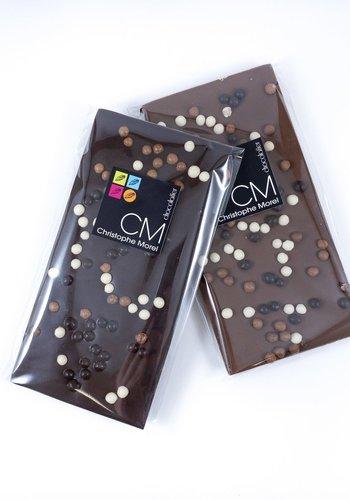Tablette Crispearls noir | Signature |Morel Chocolatier