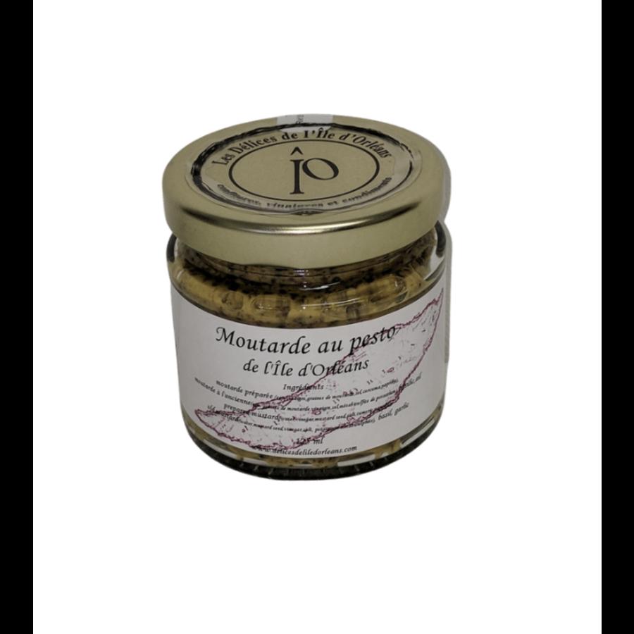 Moutarde pesto   Délices de l'Île d'Orléans   125ml