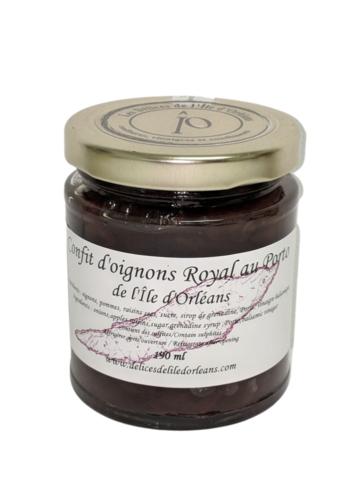 Confit d'oignons Royal au porto 125ml |Délices de l'Île d'Orléans