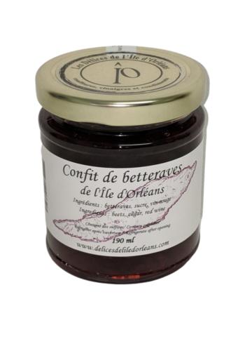 Confit betteraves 190 ml |Délices de l'Île d'Orléans