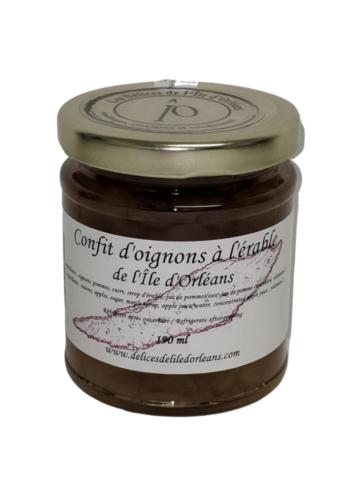 Confit d'oignons érable | Délices de l'Île d'Orléans | 190ml