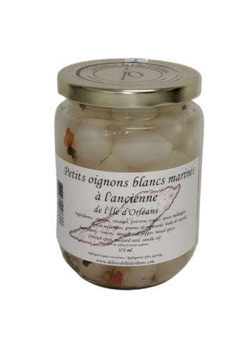 Petits oignons blancs marinés   Délices de l'Île d'Orléans   375ml