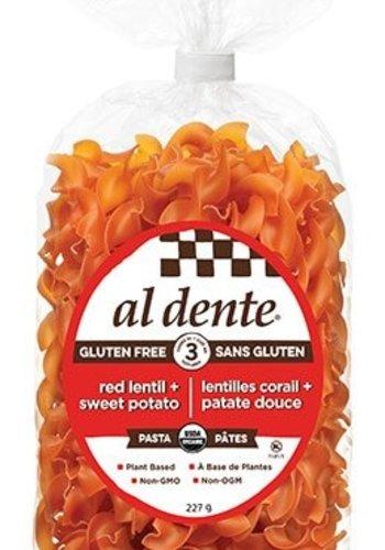 Pâtes aux lentilles rouges et patates douces | Al dente || 227g