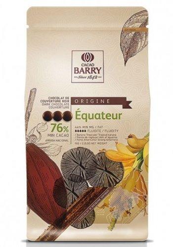 Chocolat Noir 76% Pistoles Origine Equateur 1kg Barry