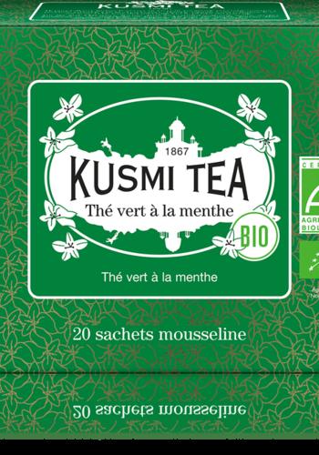 Thé vert à la Menthe Nanah (Biologique)   Kusmi Tea   20 sachets