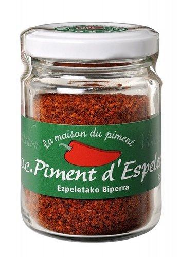 Poudre de piment d'Espelette AOC pot 40g   La maison du Piment
