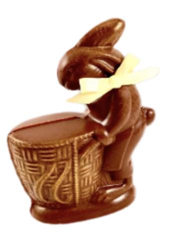 Collection Vintage lapin panier 5 | lait | Morel Chocolatier