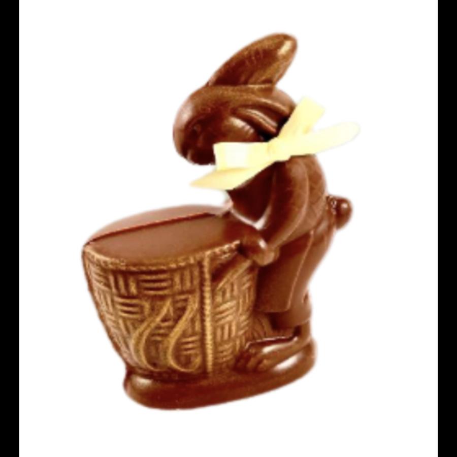Collection Vintage Lapin Panier (Chocolat au lait) | Morel Chocolatier