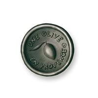Savon rond noir -Senteur Amande | Une Olive en Provence | 150g