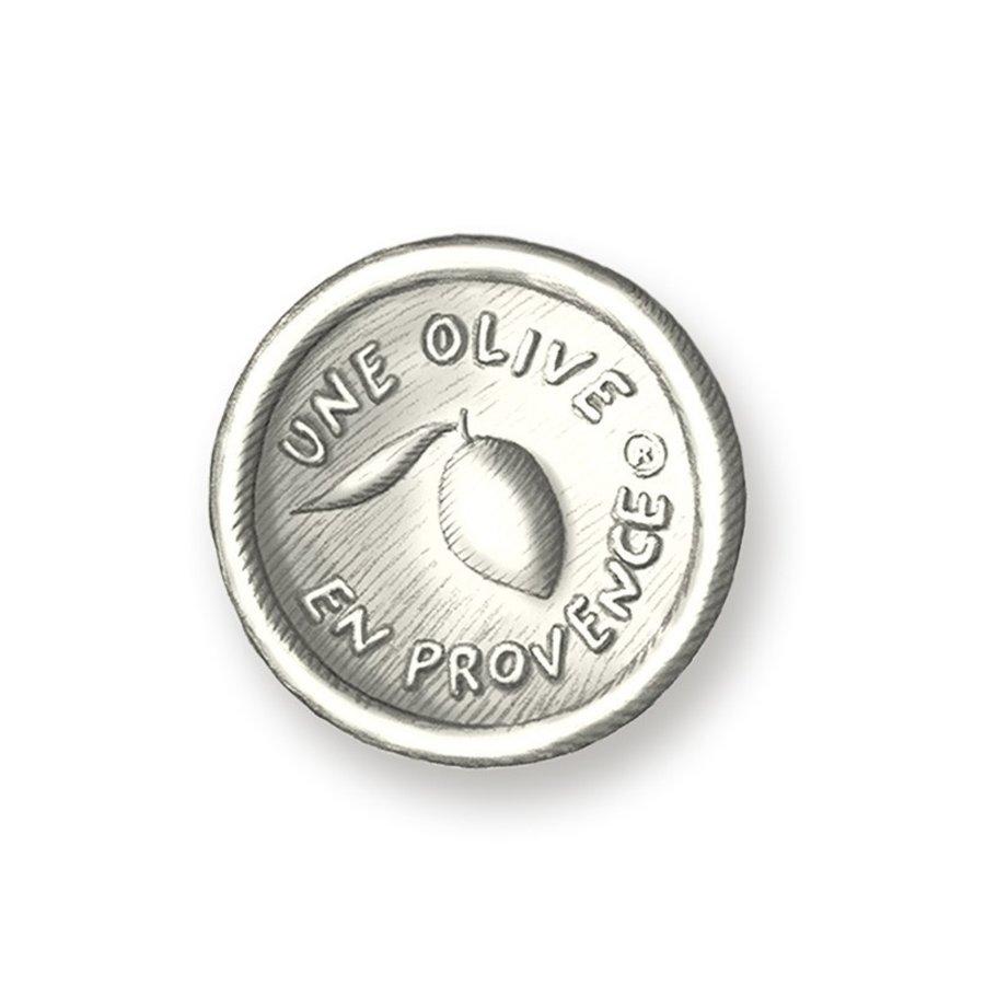 Savon rond blanc (Poudre de talc) | Une Olive en Provence | 150g