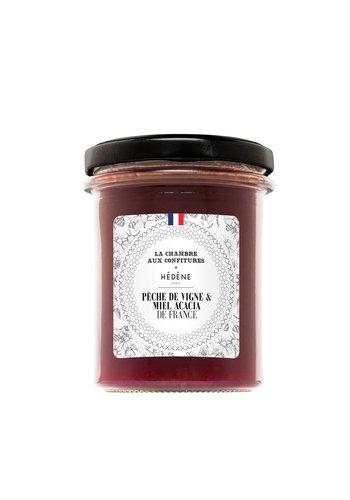 Confiture Pêche de vigne et Miel d'acacia de France | La Chambre aux confitures | 200g