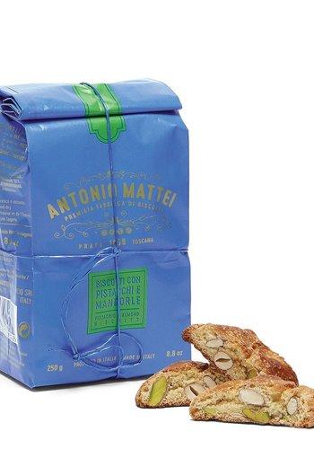 Biscottis Pistaches & Amandes de Prato (cantucci) - Sac bleu | Antonio Mattei | 250g