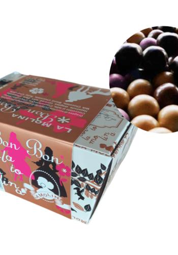 Bon-Bon |Dragées aux noisettes enrobées de chocolat noir/lai/blond/ruby