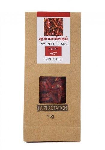 Piment Oiseaux rouge entier | La Plantation | 15g