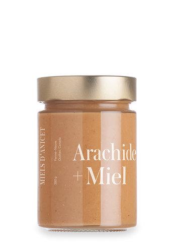 Beurre d'arachide au miel | Miel d'Anicet | 380g