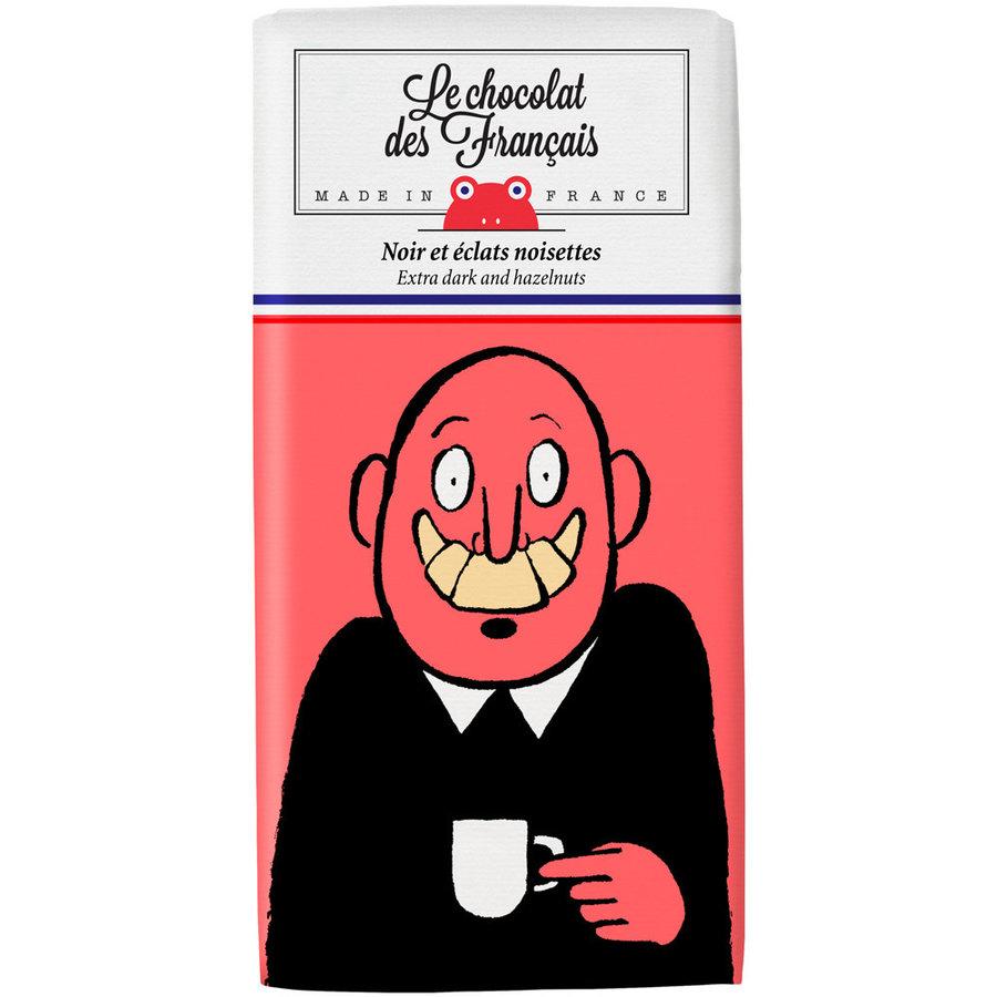 Chocolat noir et Éclats de Noisettes- Mr.Croissant | Le Chocolat des Français -80G