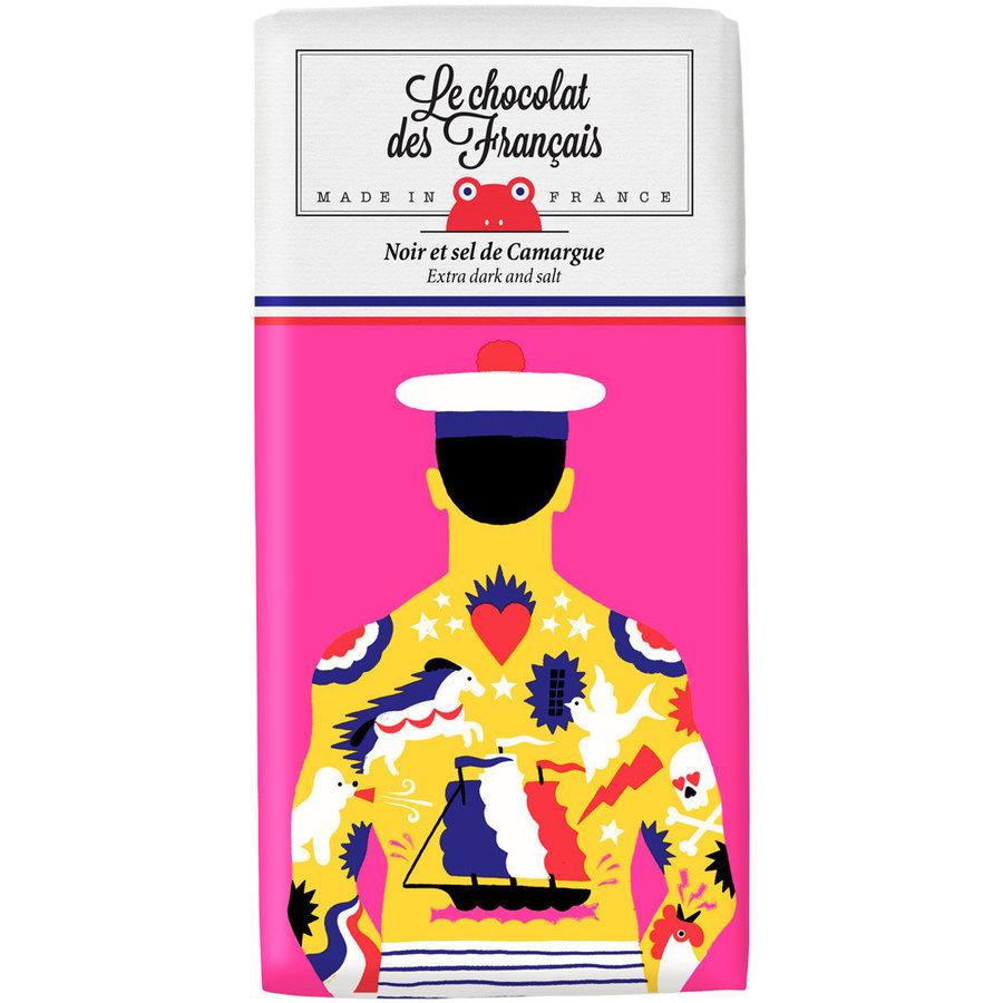 Chocolat noir & sel de Camargue - Le Marin Tatoué | Le Chocolat des Français | 80gr