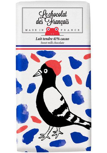 Chocolat au lait - L'oiseau | Le Chocolat des Français | 80gr