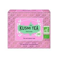 Thé vert rose Bio | Kusmi Tea | Étui 20 sachets mousseline 40g