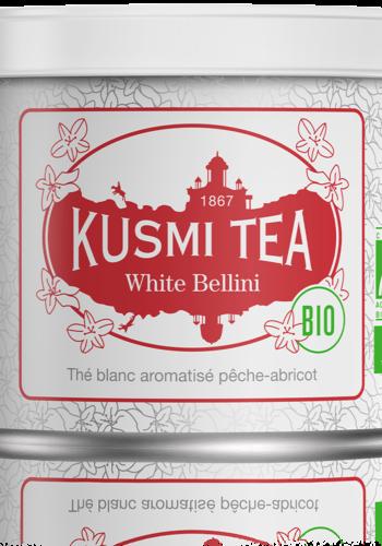 Thé blanc White Bellini Bio (Boîte métal)   Kusmi Tea   90g