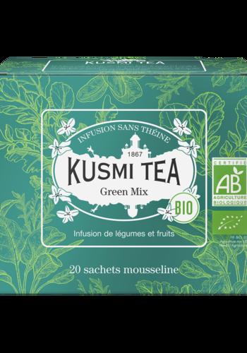 Green Mix | Kusmi Tea | Étui 20 sachets mousseline | 40g