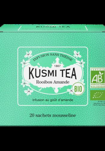 Thé herbal Rooibos Amande bio | | Kusmi Tea | Étui 20 sachets mousseline 40g