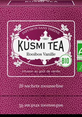 Thé herbal Rooibos Vanille  bio | | Kusmi Tea | Étui 20 sachets mousseline 40g
