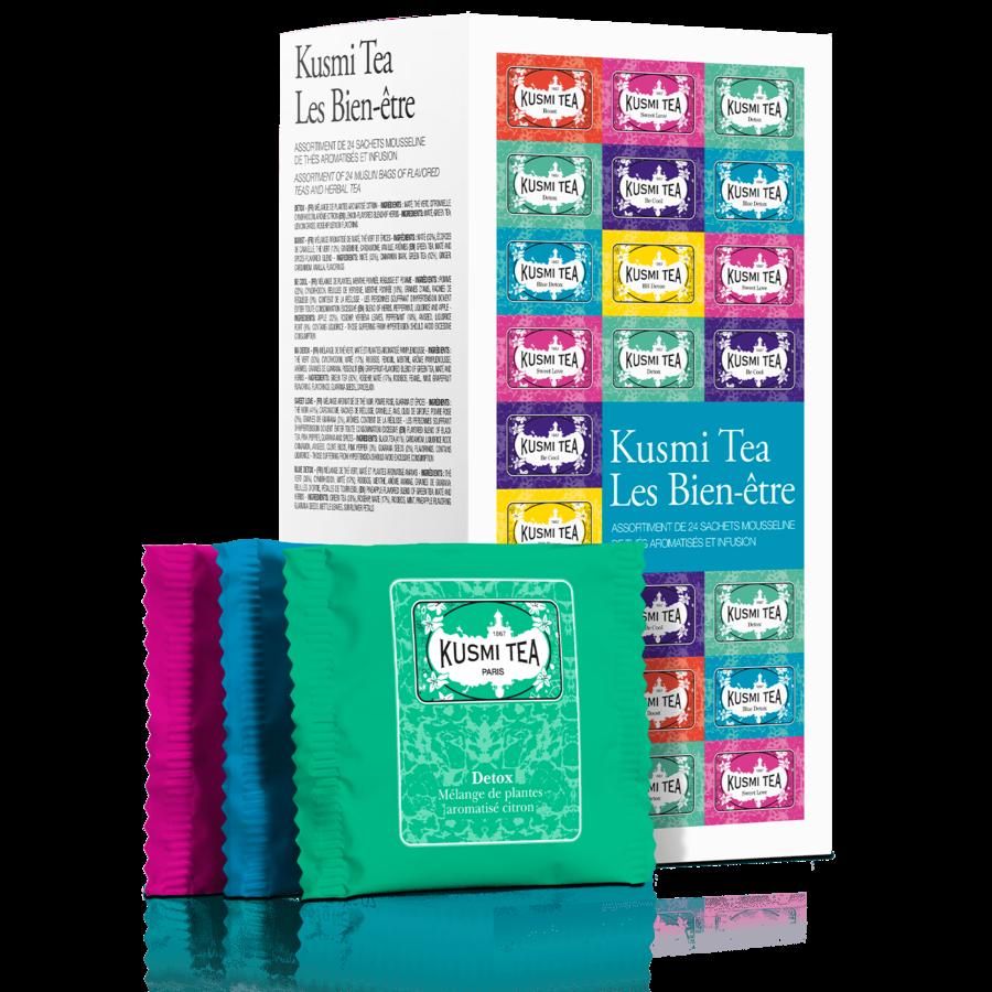 Les bien-etre   Kusmi Tea   24 mousselines enveloppées