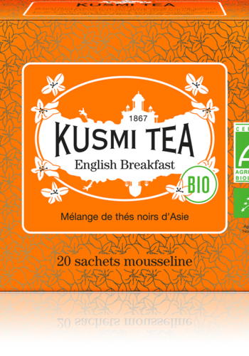 Thé English Breakfast | Kusmi Tea | Étui 20 sachets mousseline 40g