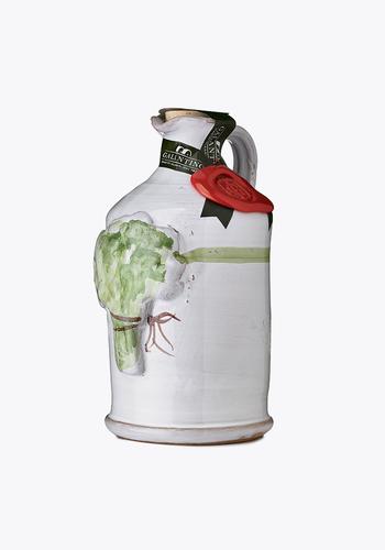 Huile d'olive au basilic |Cruche Céramique | Galantino | 250 ml