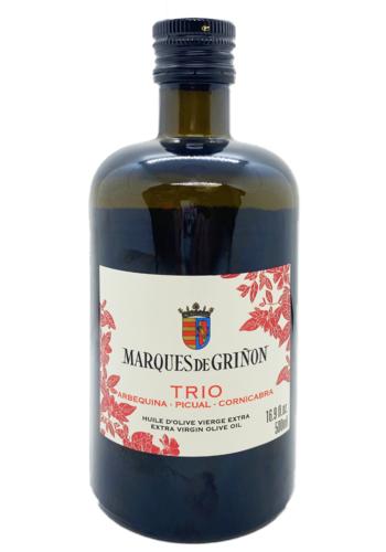 Extra virgin olive oil   Trio ( Arbequina-Picual-Cornicabra)   Marques de Grinon   500 ml
