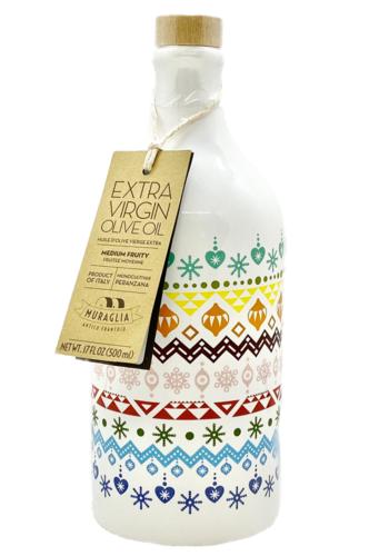 Huile d'olive extra vierge céramique dentelles Muraglia 500 ml